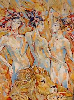 VALERI SOKOLOVSKI   My Muses  Original Oil  40 X 30