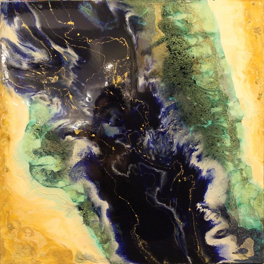 ANNA SHEVERSKY  Fraser River I Original Mixed Media 30 X 30