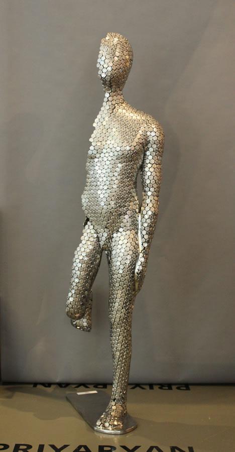 PRIYARYAN  Half Man - Front View Original Sculpture 48 Inches