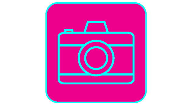 A sketch of a camera to describe the incredible photo quality.