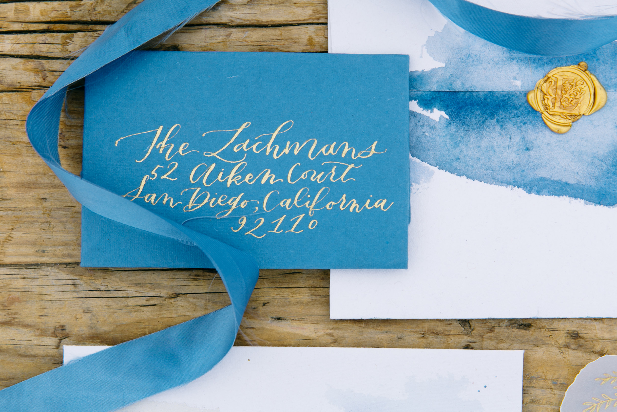 Wedding Invitations RSVP Card with Calligraphy