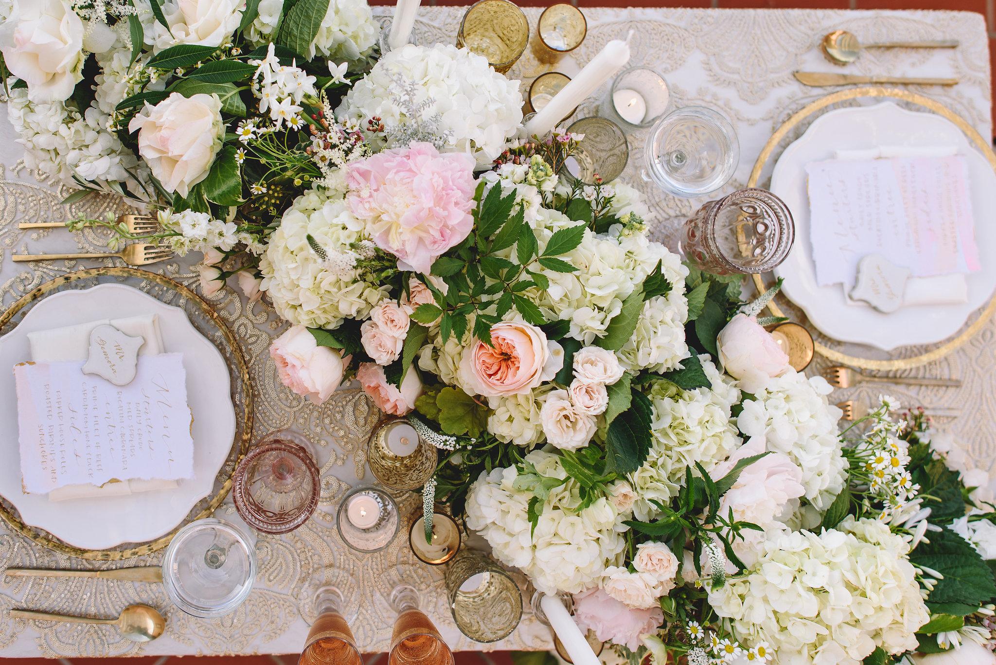 Pink Wedding Flower Garland