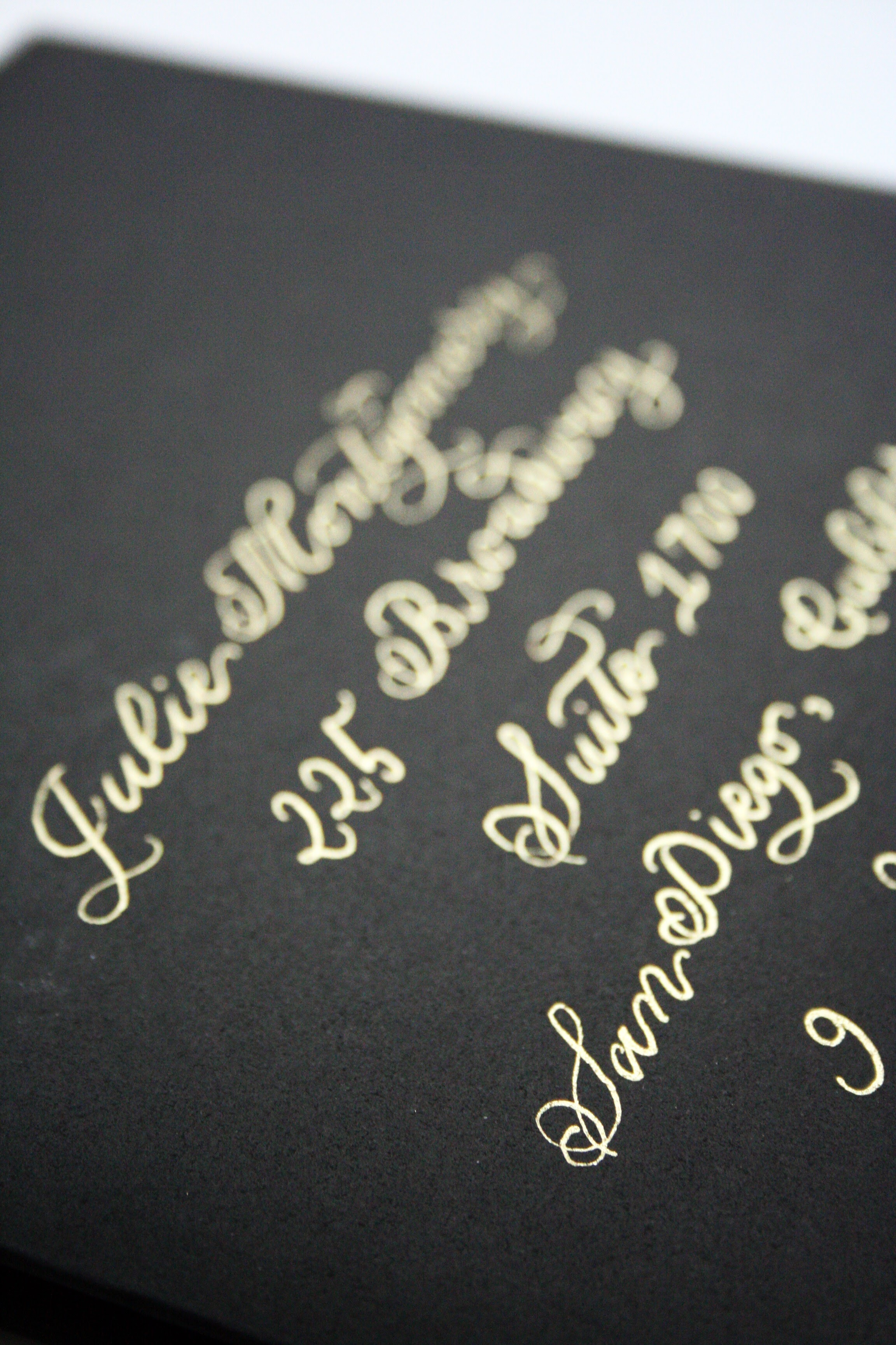 Gold Calligraphy Envelopes