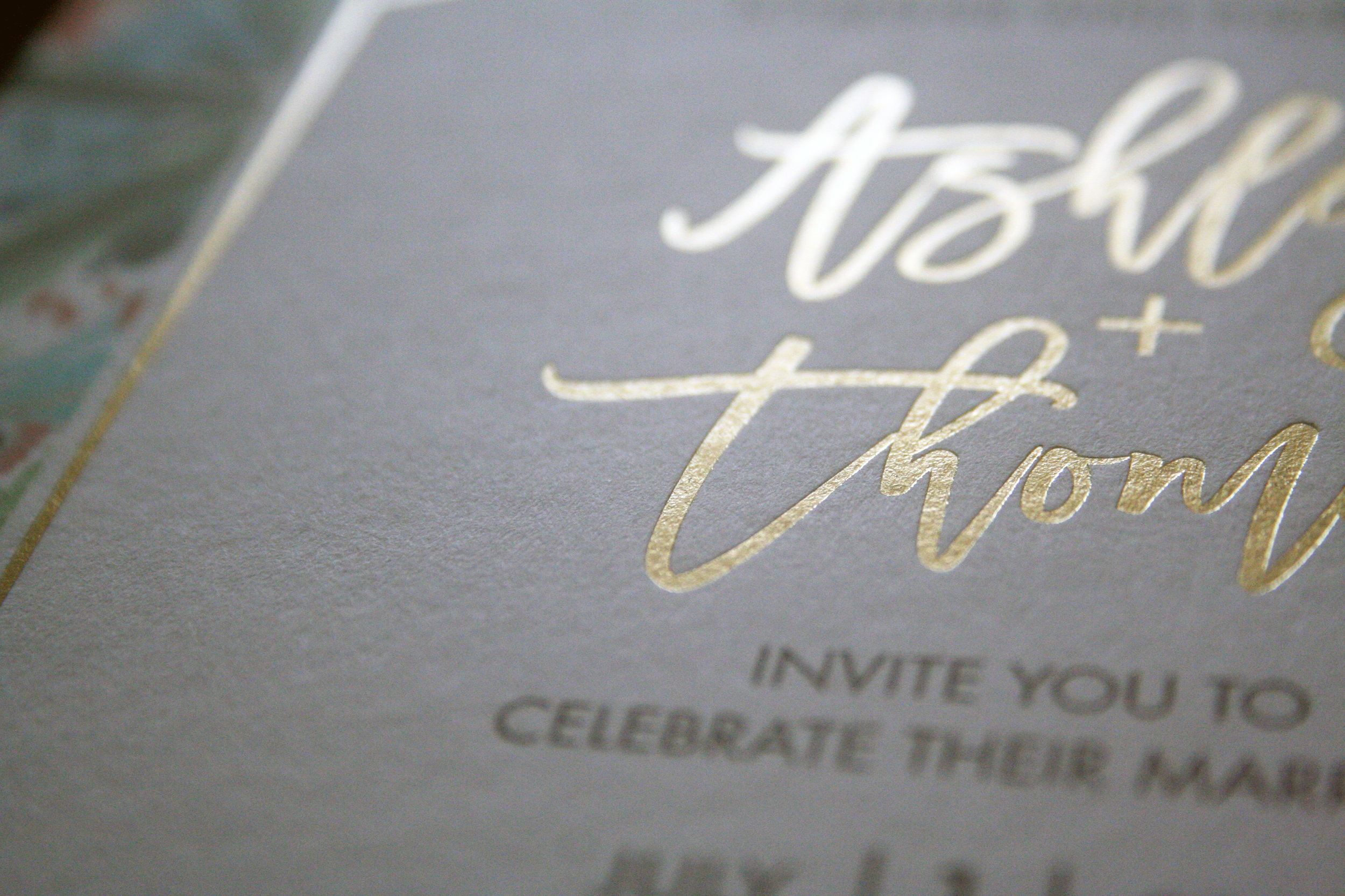 Eggshell paper with Gold Foil