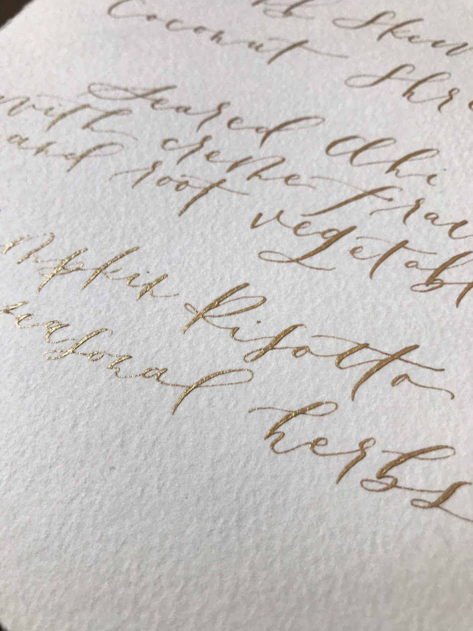 Handmade paper with Calligraphy