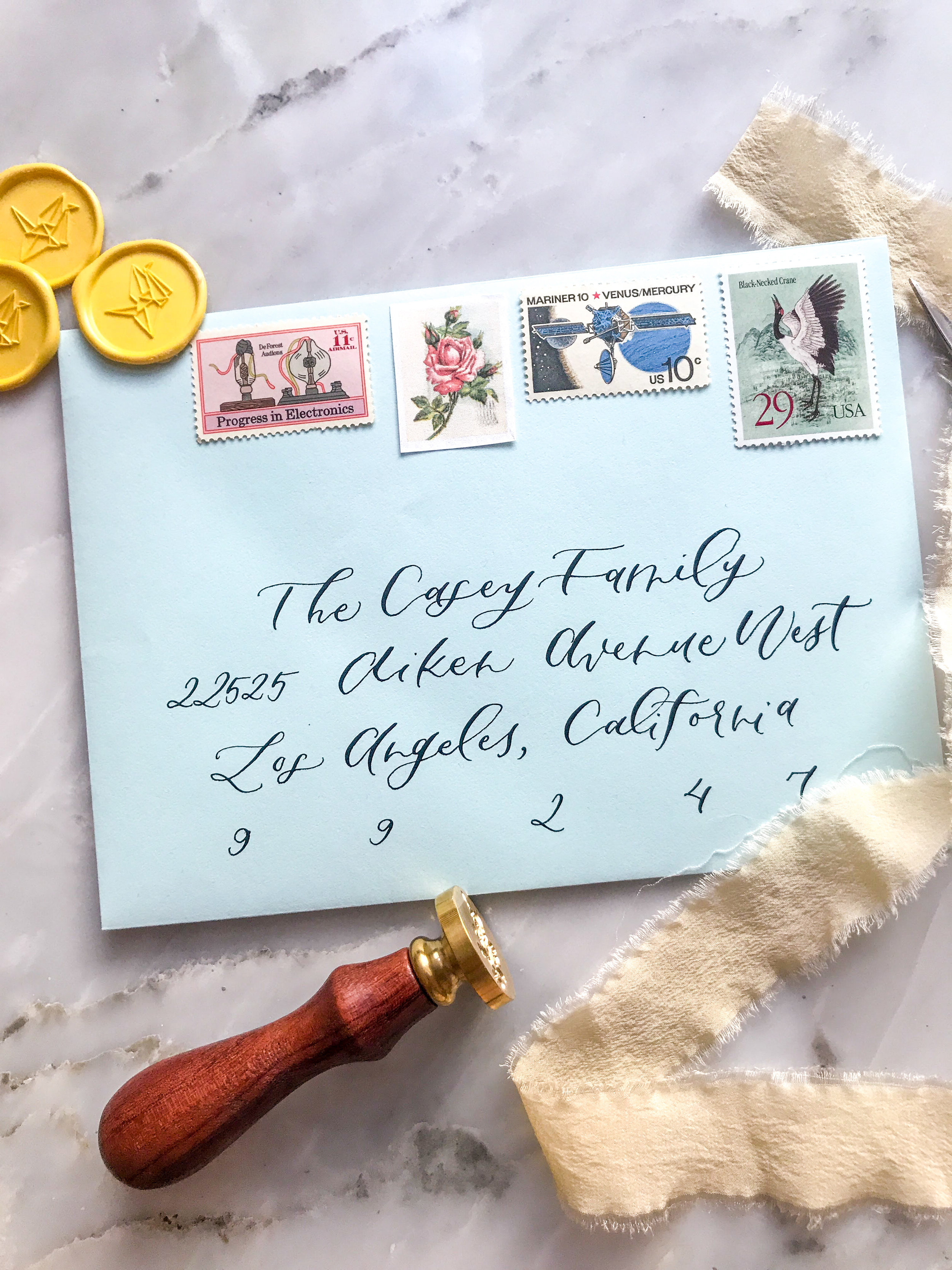 envelope mailing wedding invites
