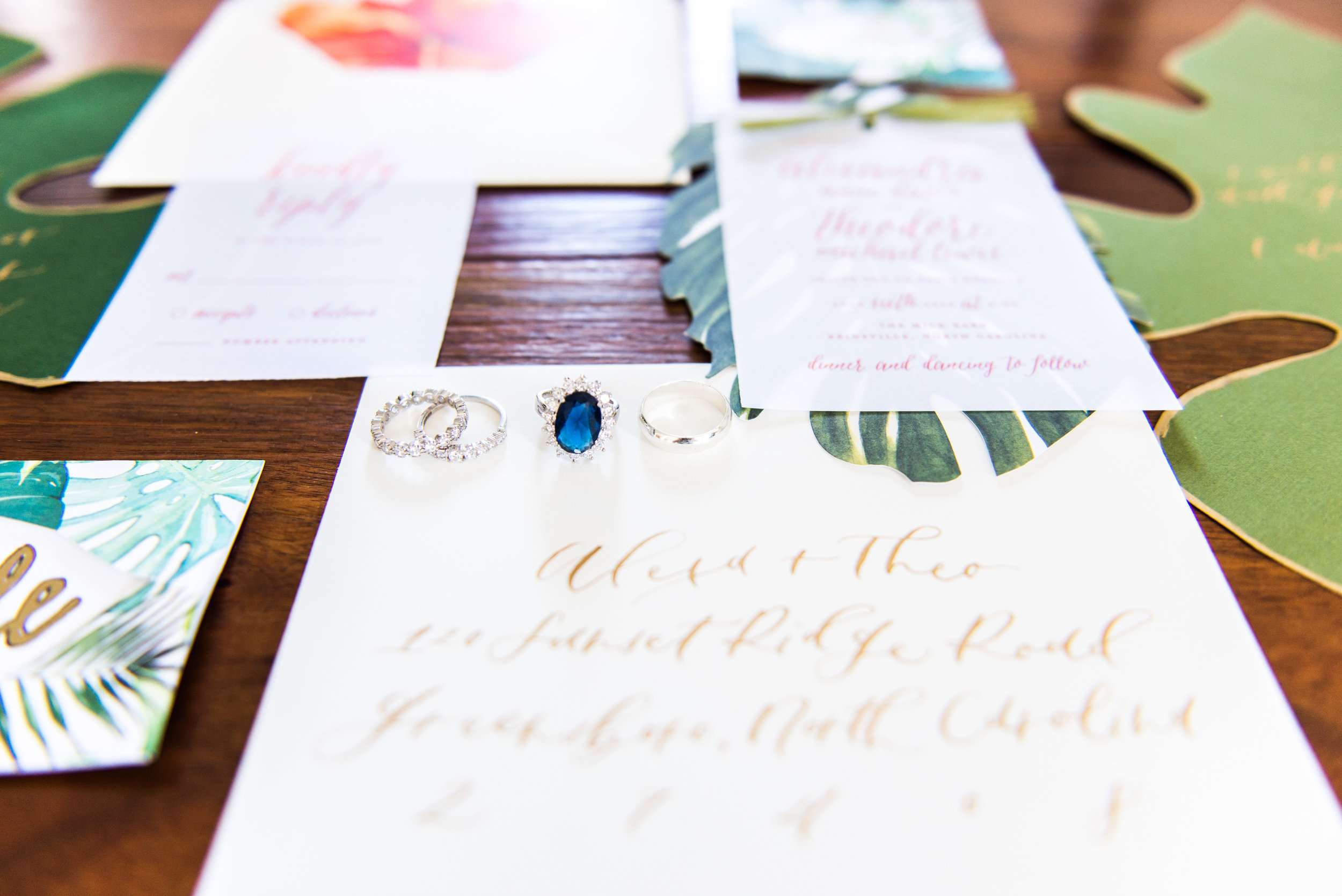 An envelope from the styled shoot with  Madalyn Yates Photography