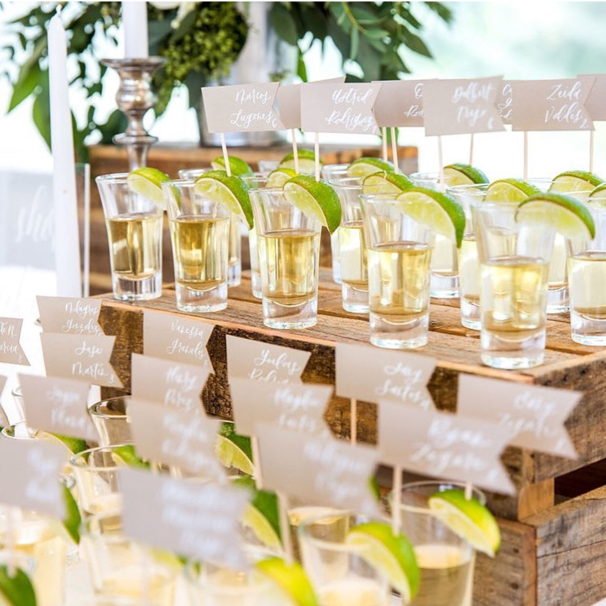 tequila escort card flags