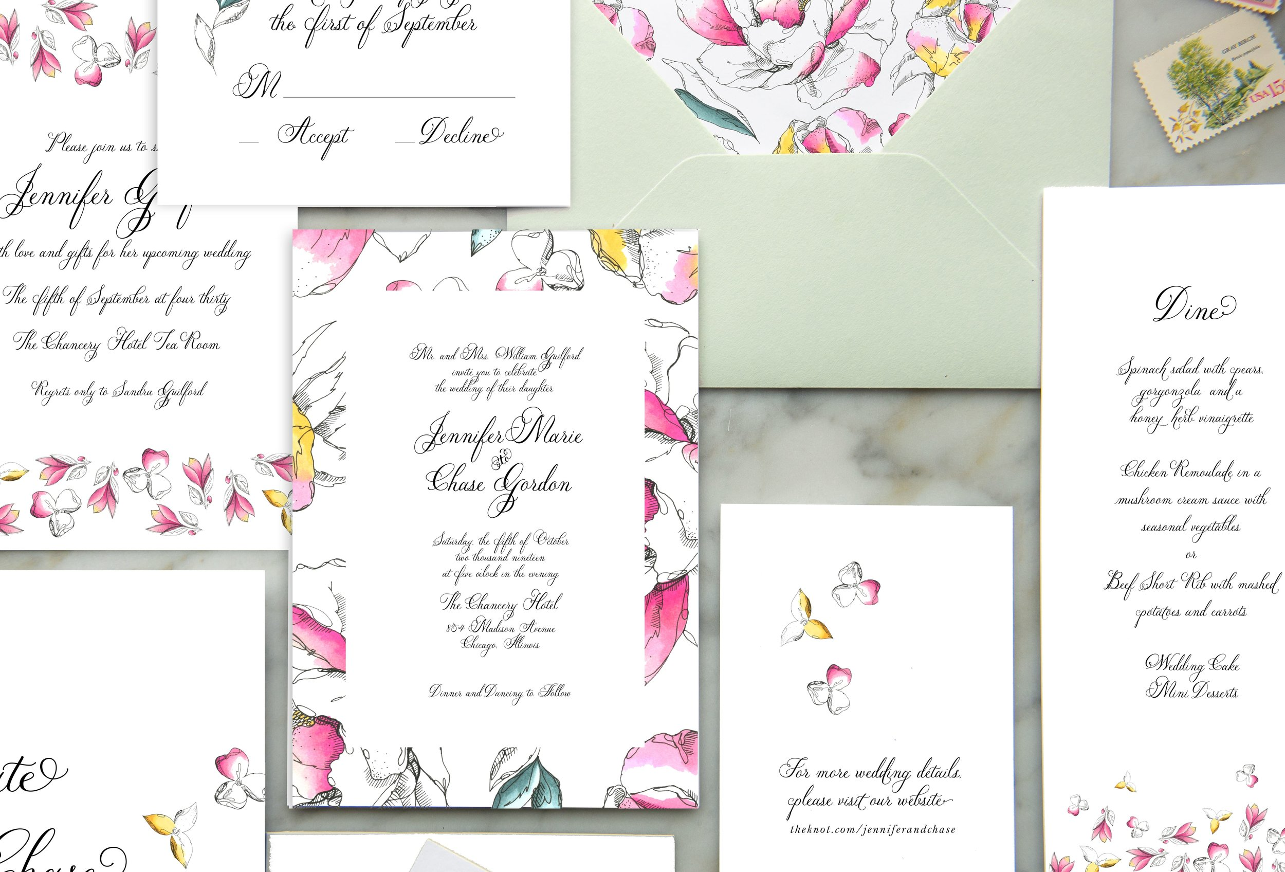 garden wedding invitation