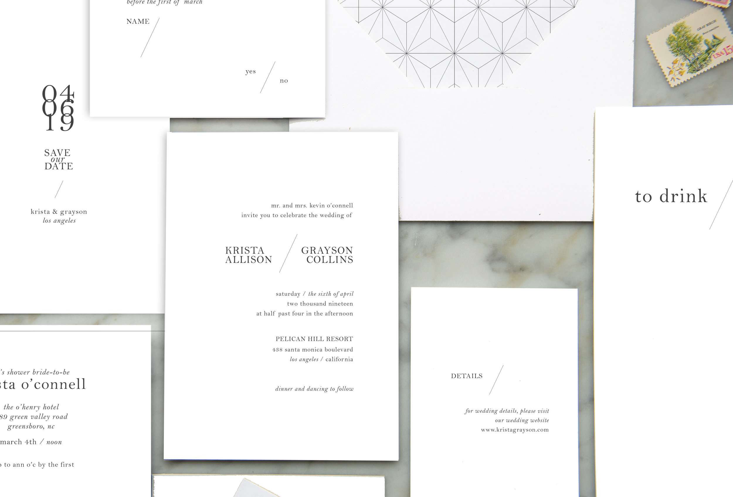 Simple Modern Wedding Invites