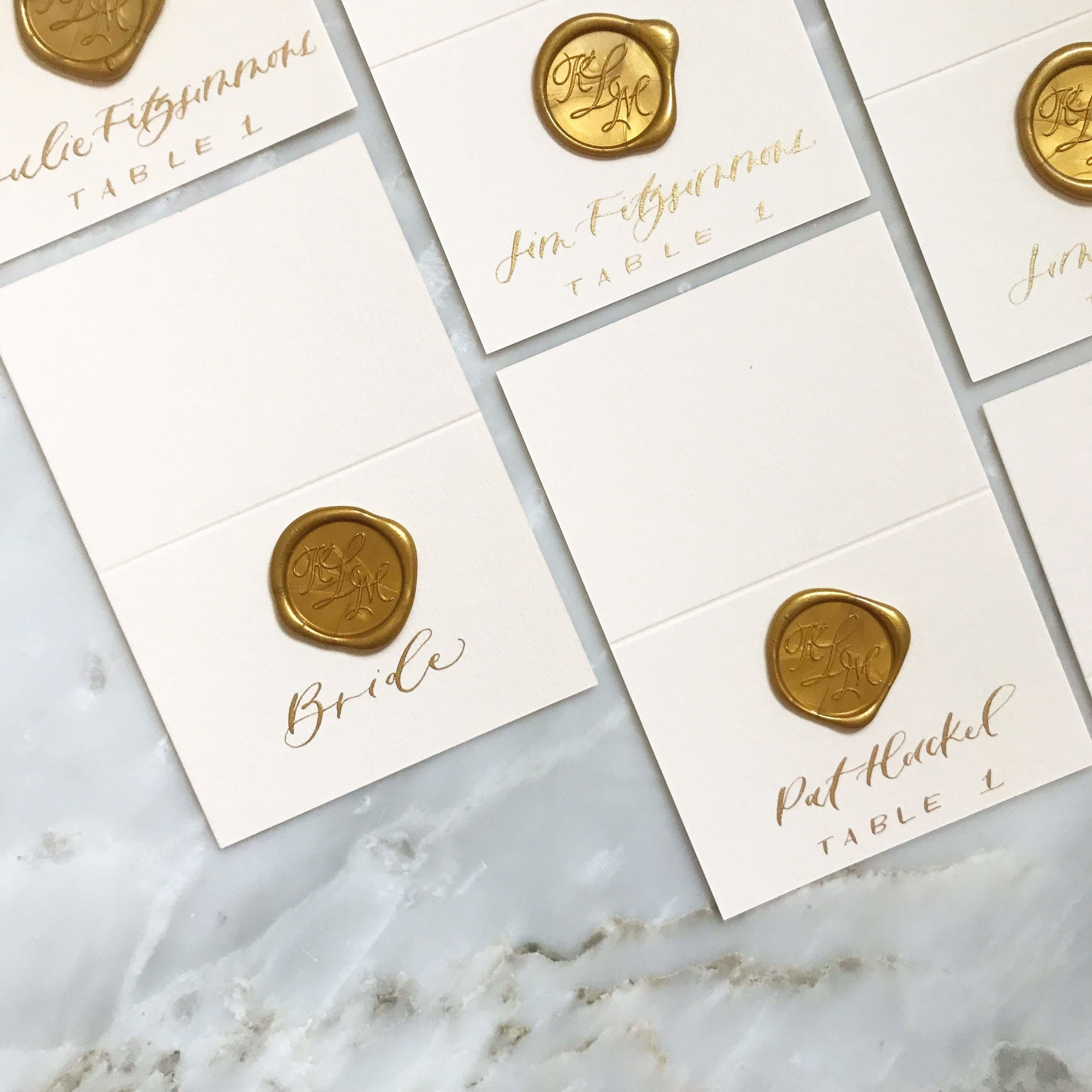 wax seal escort cards