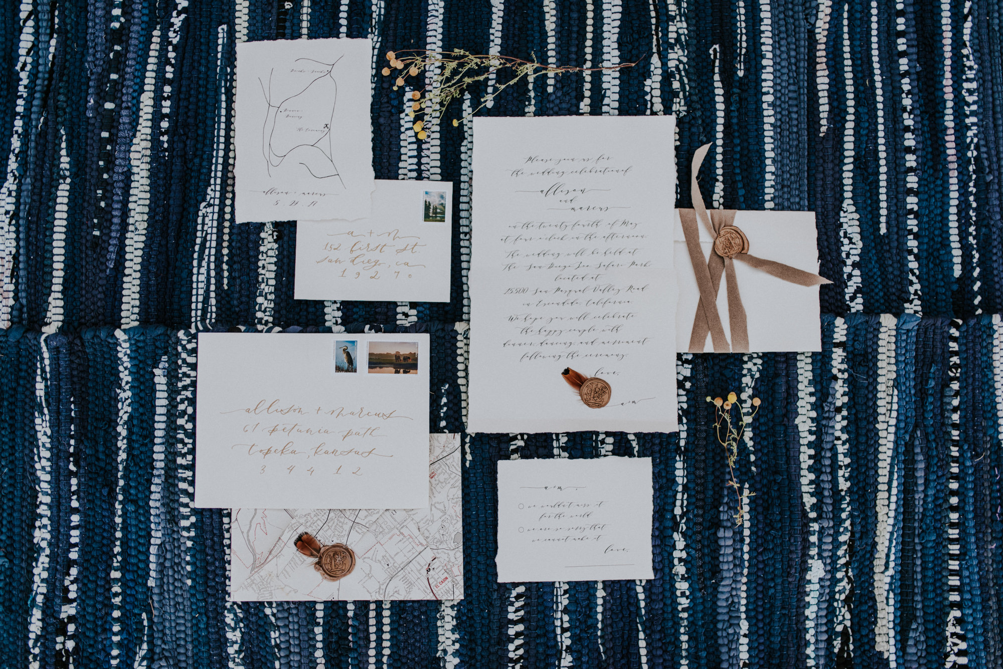 glamping wedding invites
