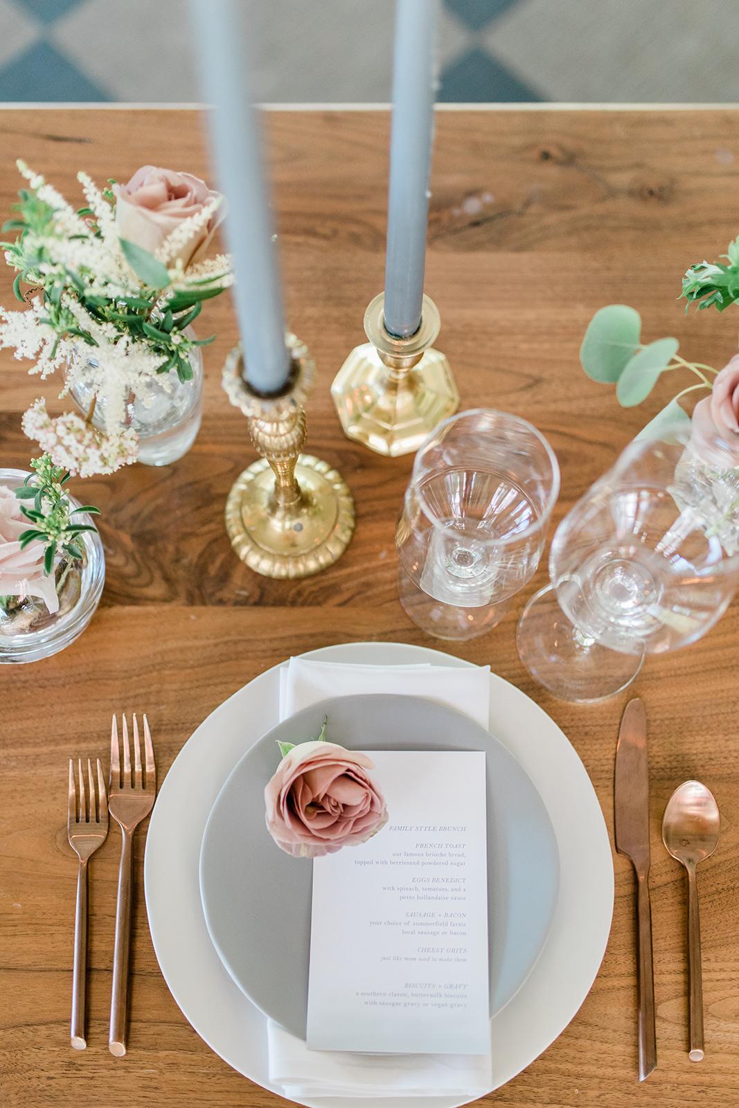brunch wedding menu
