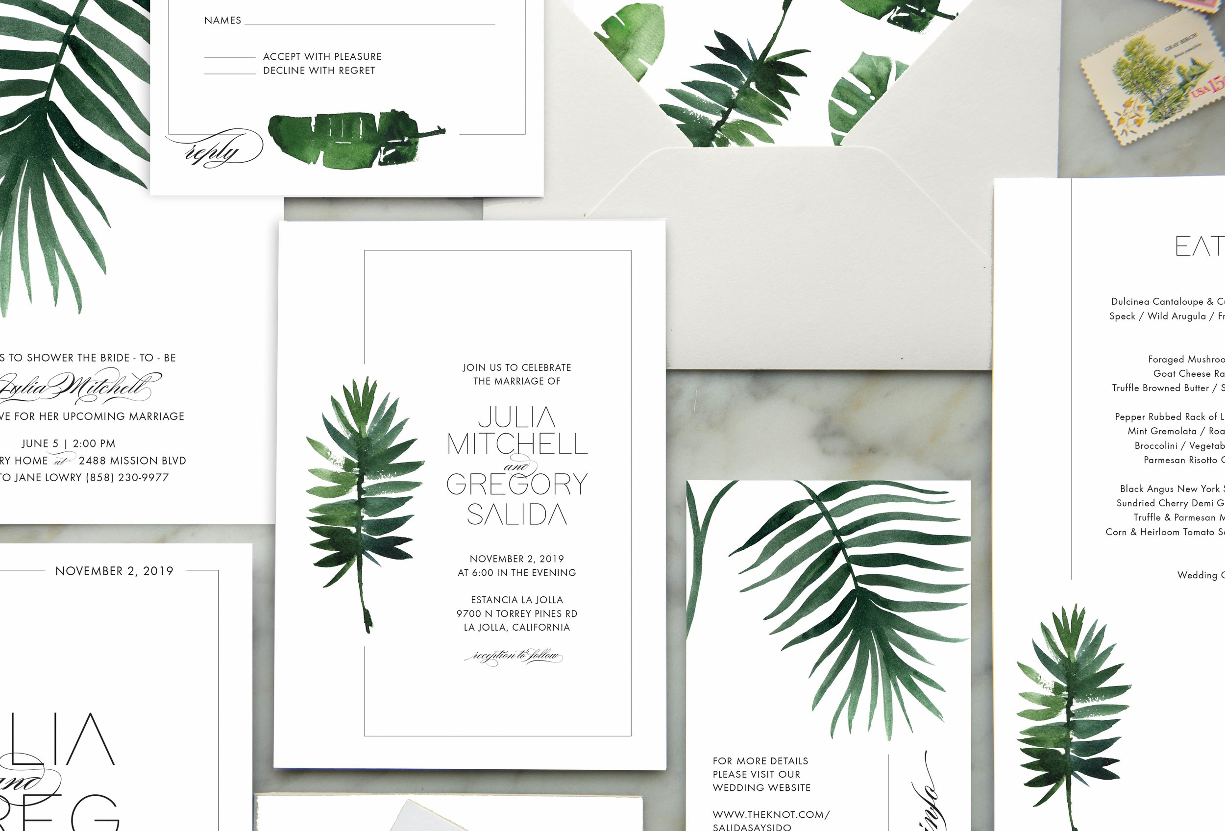 mod tropical wedding suite