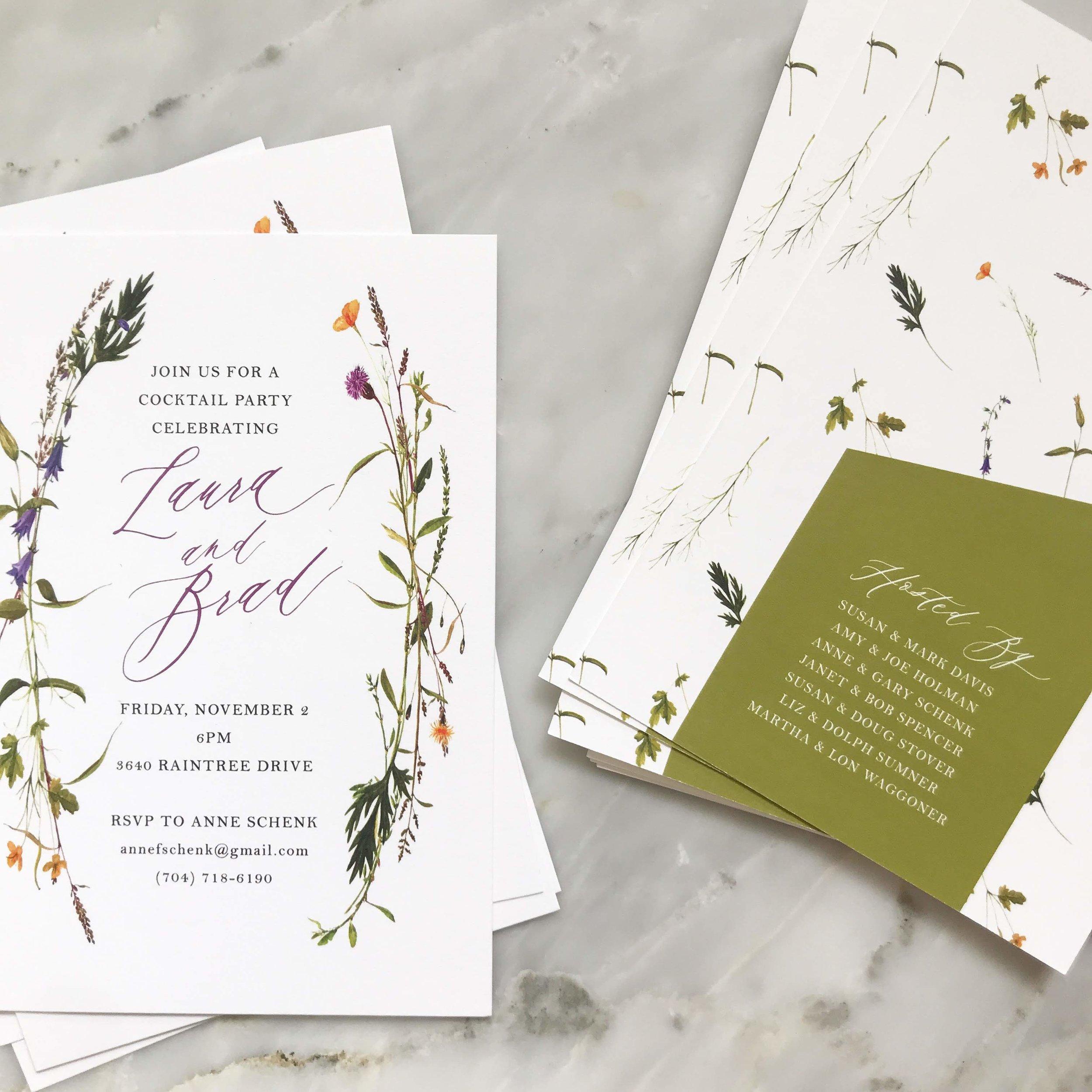 Wildflower Wreath Wedding Invitations