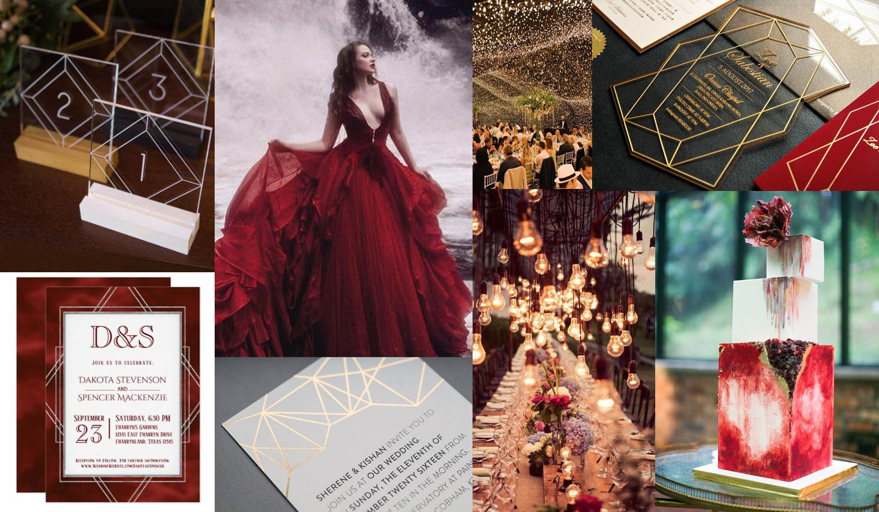 Melisandre The Red Lady Wedding Invitations