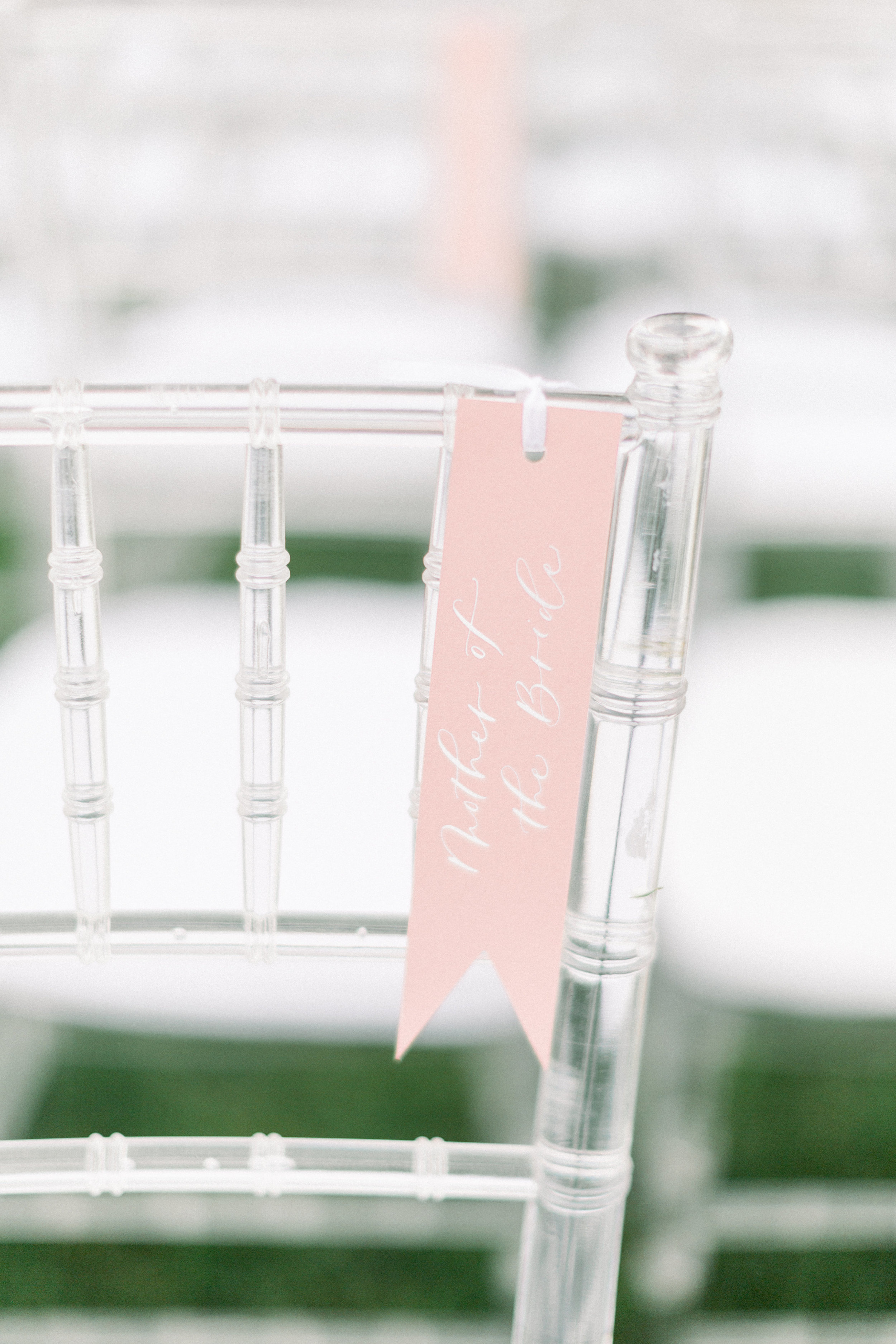 Reserved Seat Calligraphy Wedding Tags