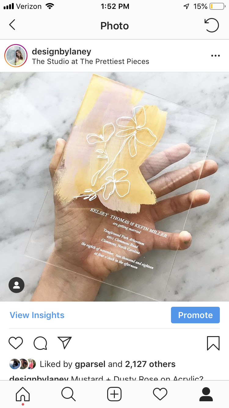 acrylic painted invitations