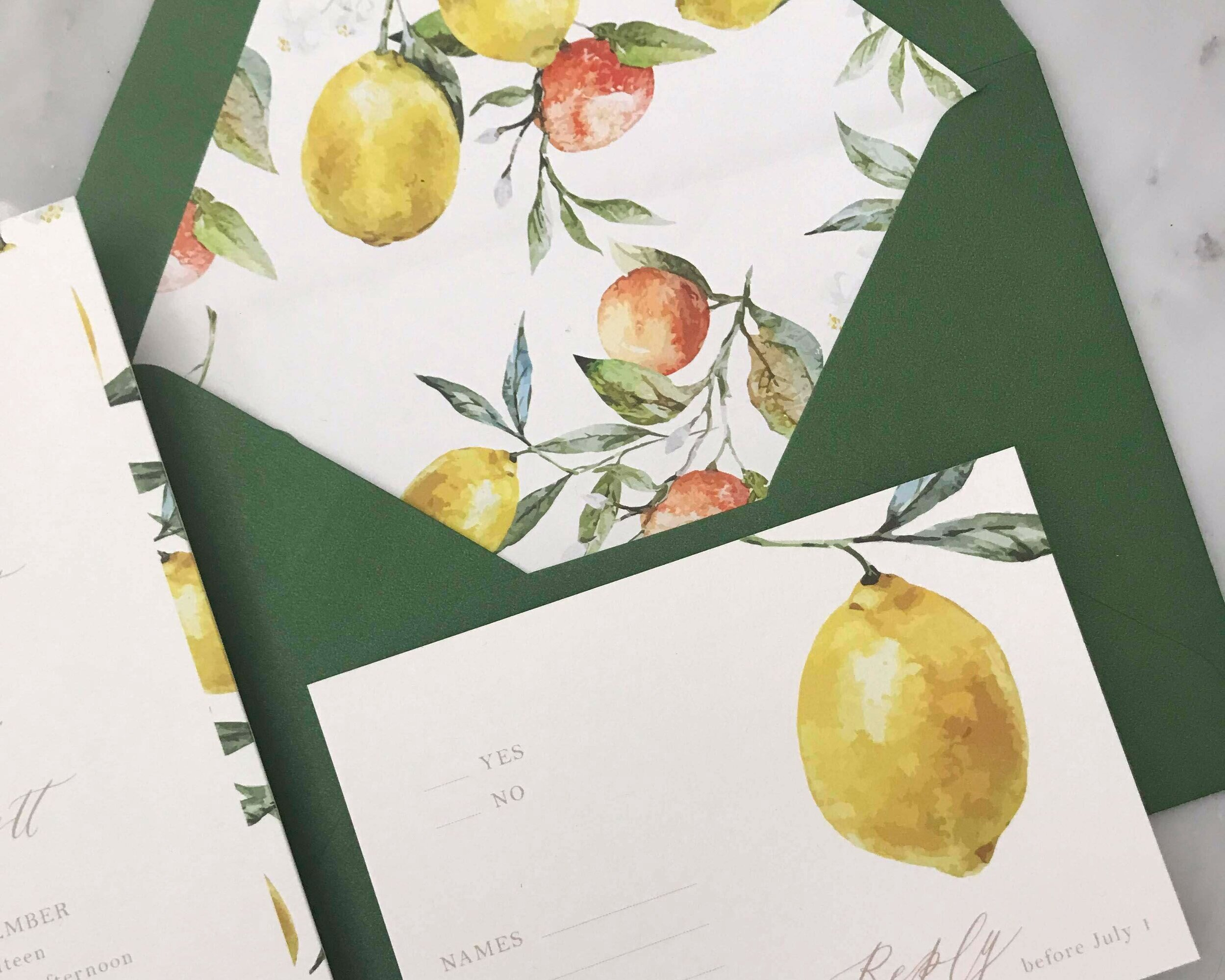 Design By Laney Wedding Stationary Envelope Liners
