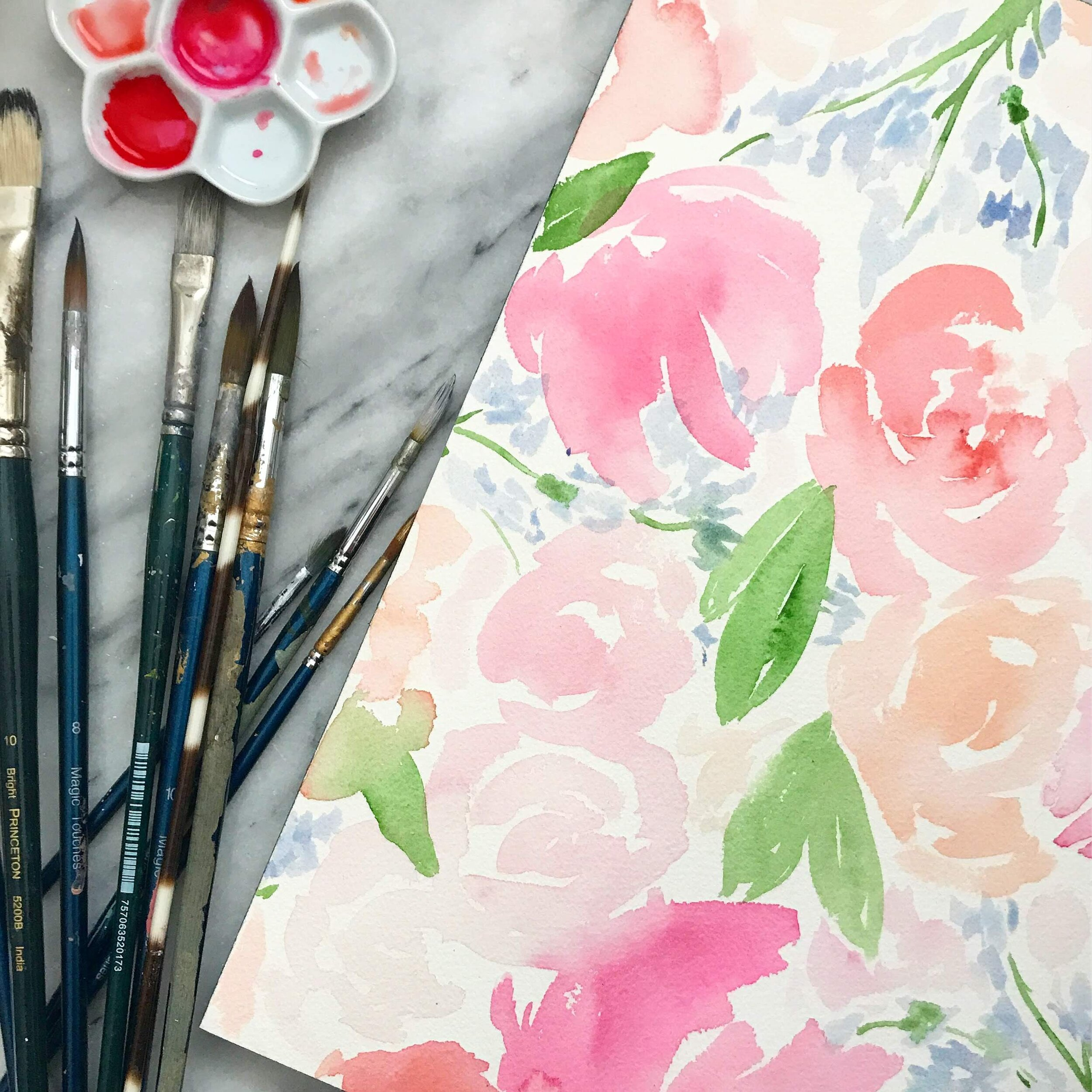 Watercolor Florals for Wedding Invitations