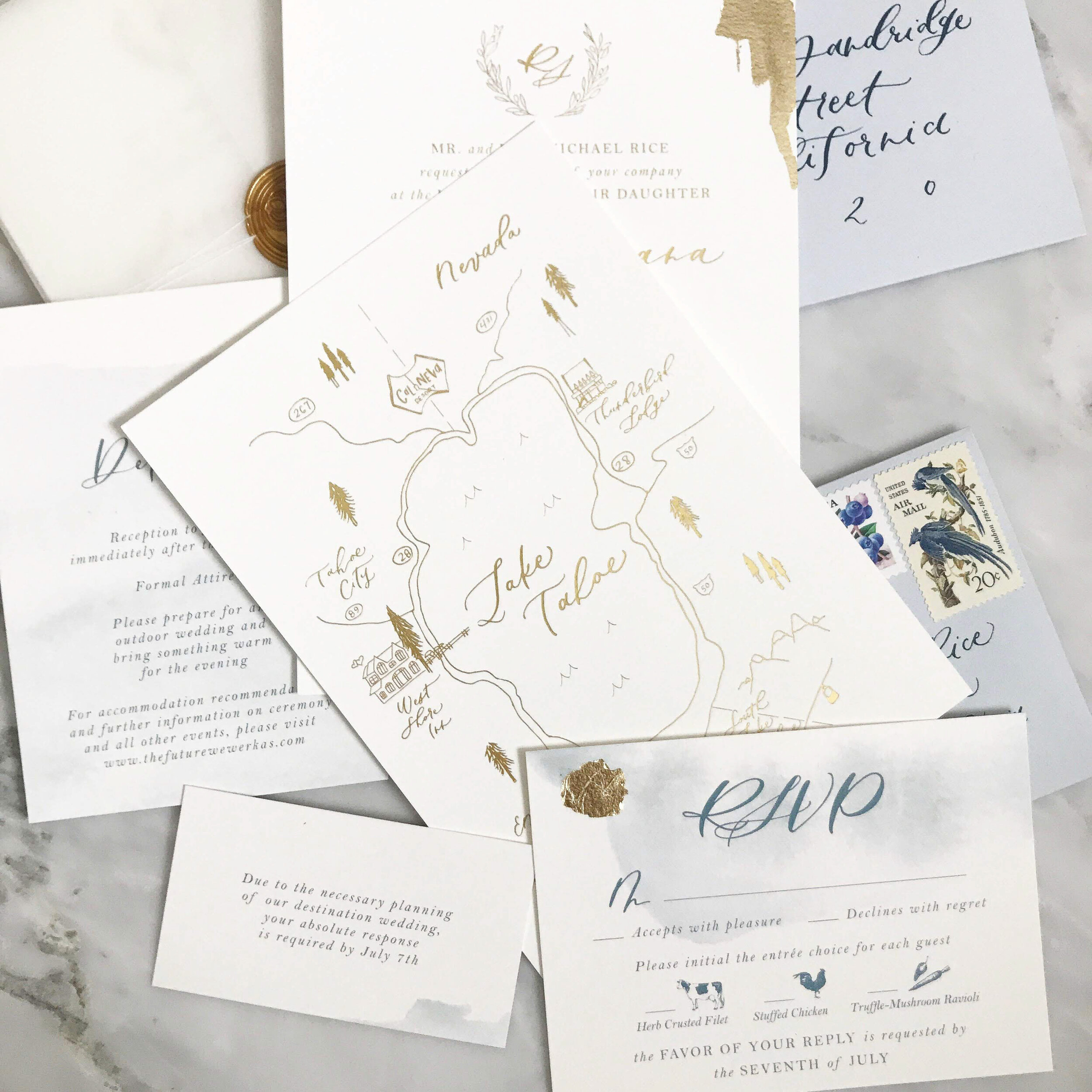 What goes on an invitation map?