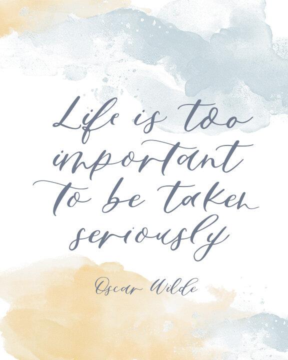 Art Print Inspirational Quote ft. Sapphire Script Modern Calligraphy Font