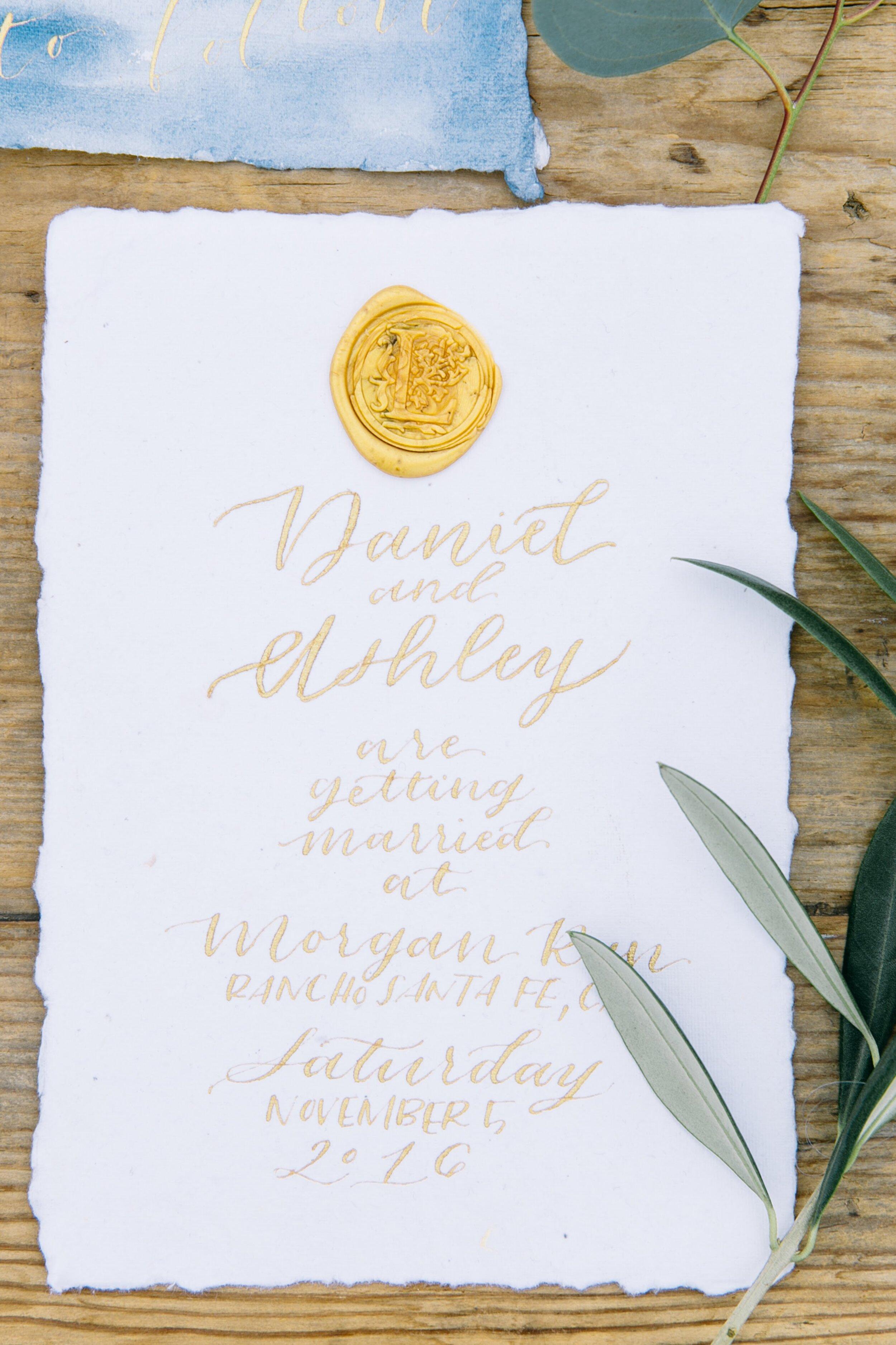 handmade paper wedding invitations