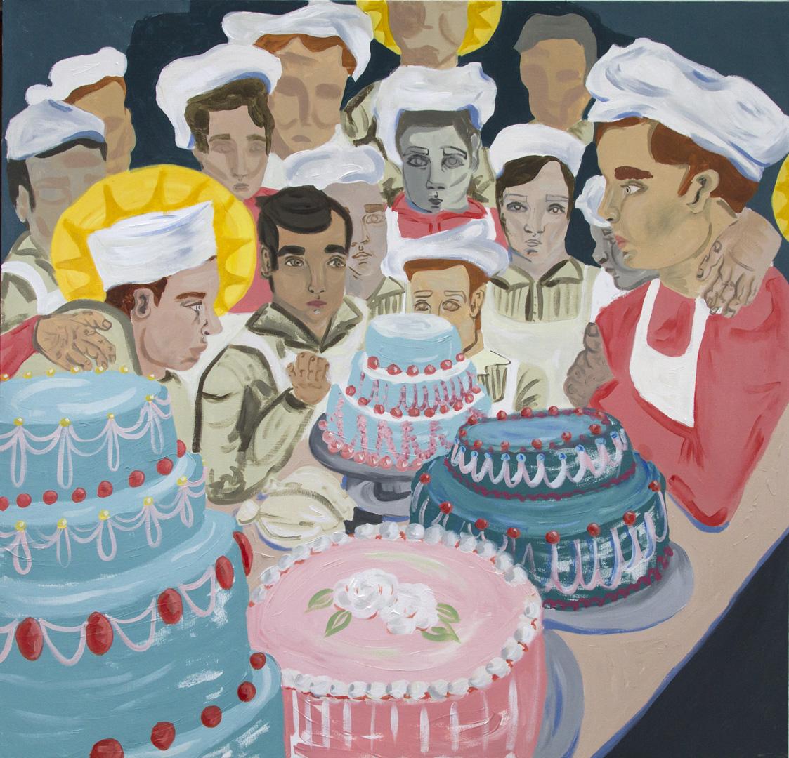 SAINTS DECORATING CAKES, 2014