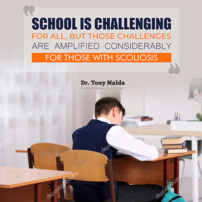 School is challenging for all adolescents, but those challenges are amplified considerably for those with scoliosis