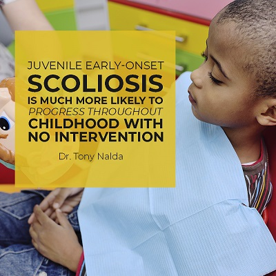 Juvenile early-onset scoliosis is much more likely to progress throughout childhood with no intervention.