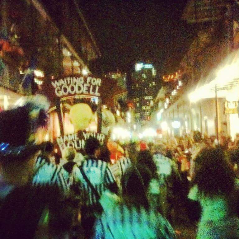 Mardi Gras Marching in the French Qaurter with Krewe de Vieux 2013.jpg