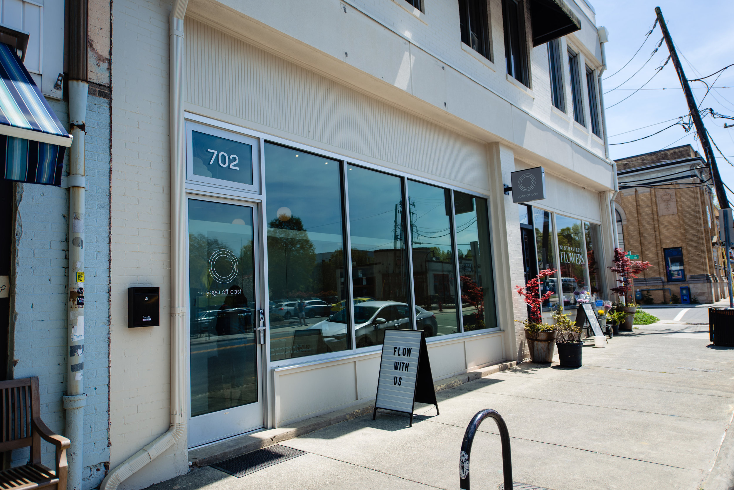 Yoga Off East is conveniently located two blocks from Duke's East Campus.