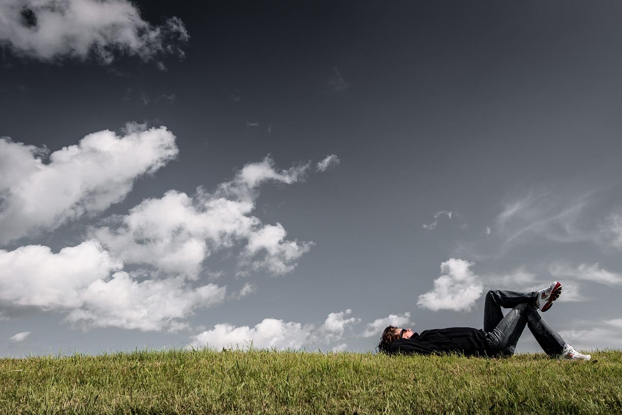 Man relaxing after Running a business