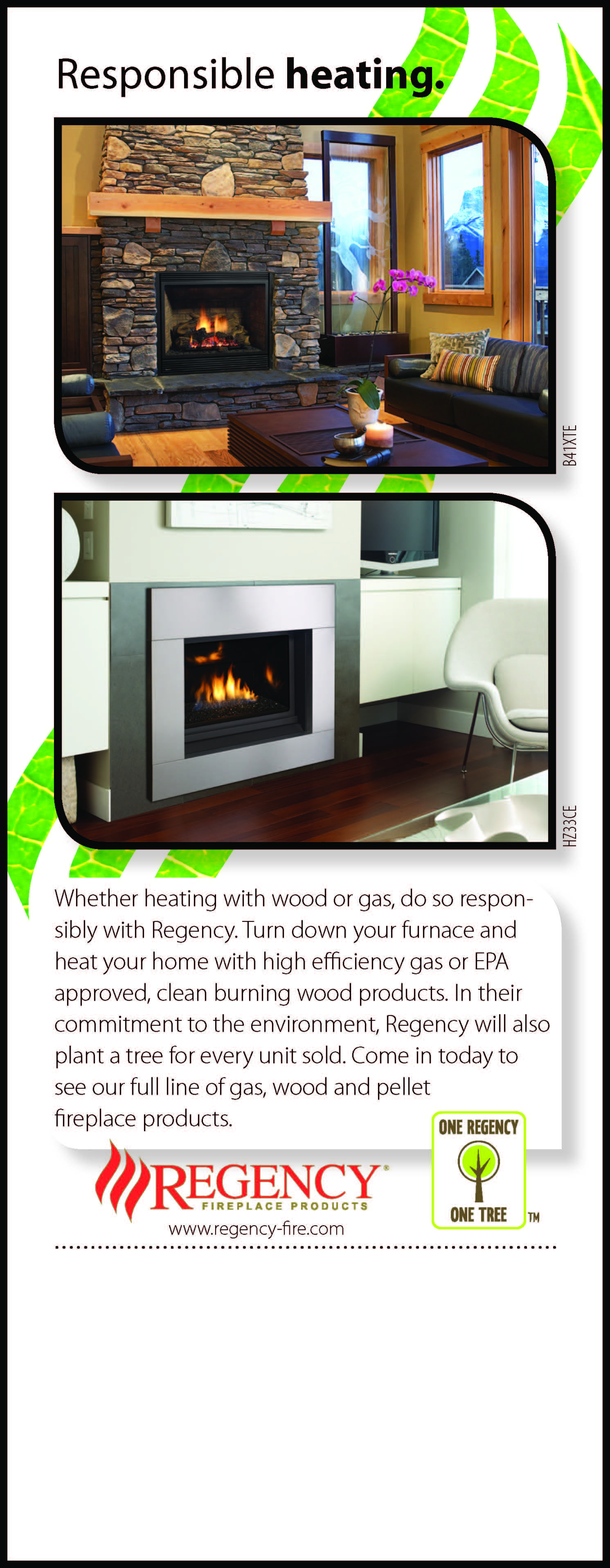 Responsible Heating Regency Fireplace Products