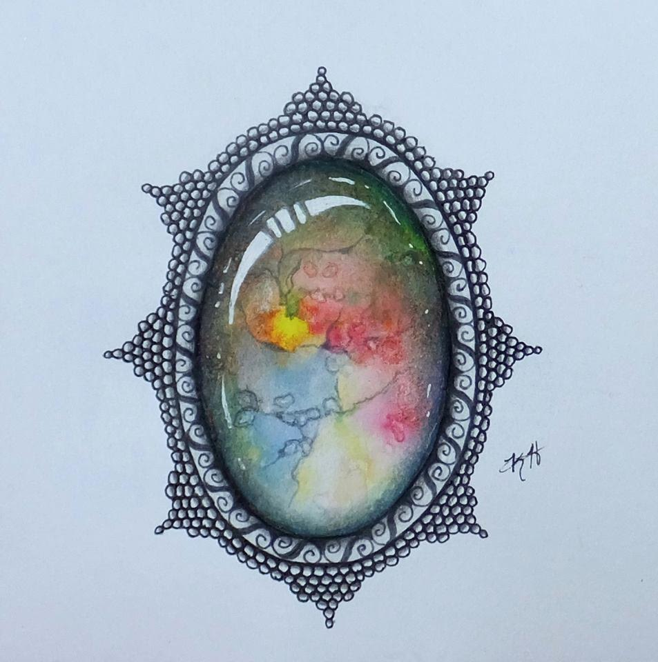 """This beautiful drawing by Lindsay's mother, Kim, is the inspiration behind """"Chasing Dreams""""."""