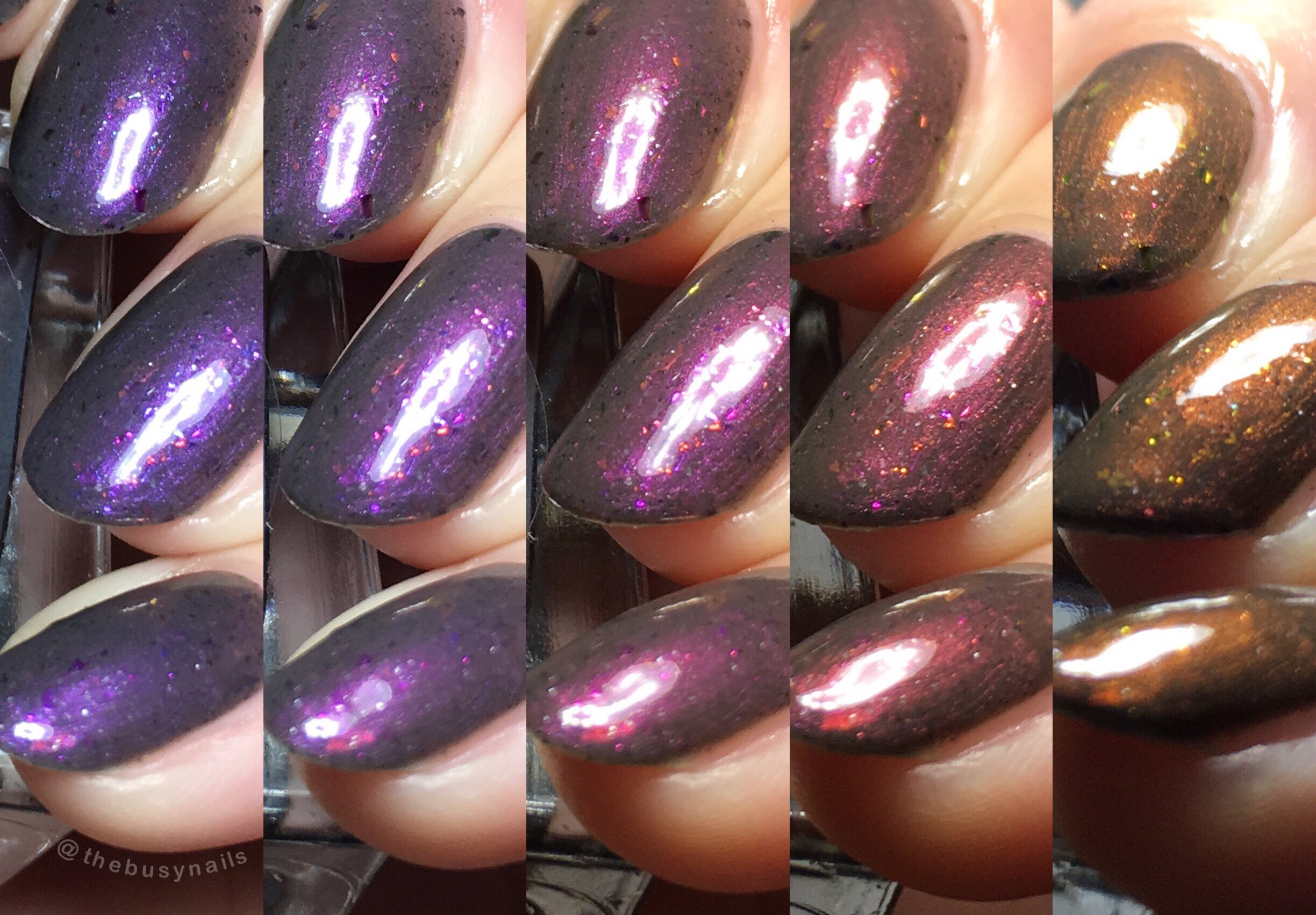 Like I said, the shift is VERY strong. Here you can see just a few examples of the color range.