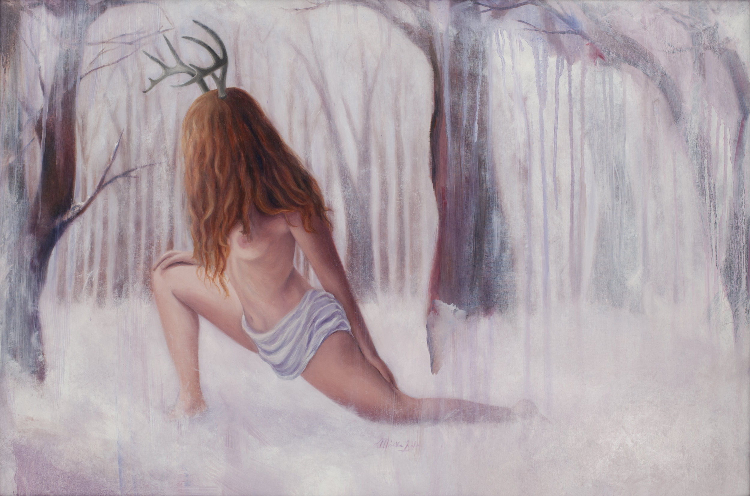 Winter Solitude , 2015. Oil on panel. 24 x 36 inches.