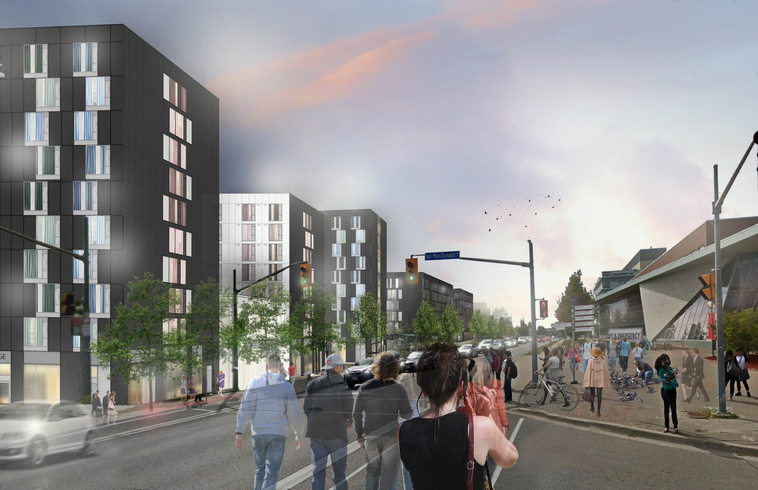 Resize of York Quad Phase 2 - ARK Render - C3 and C4_Street view looking West v03.jpg