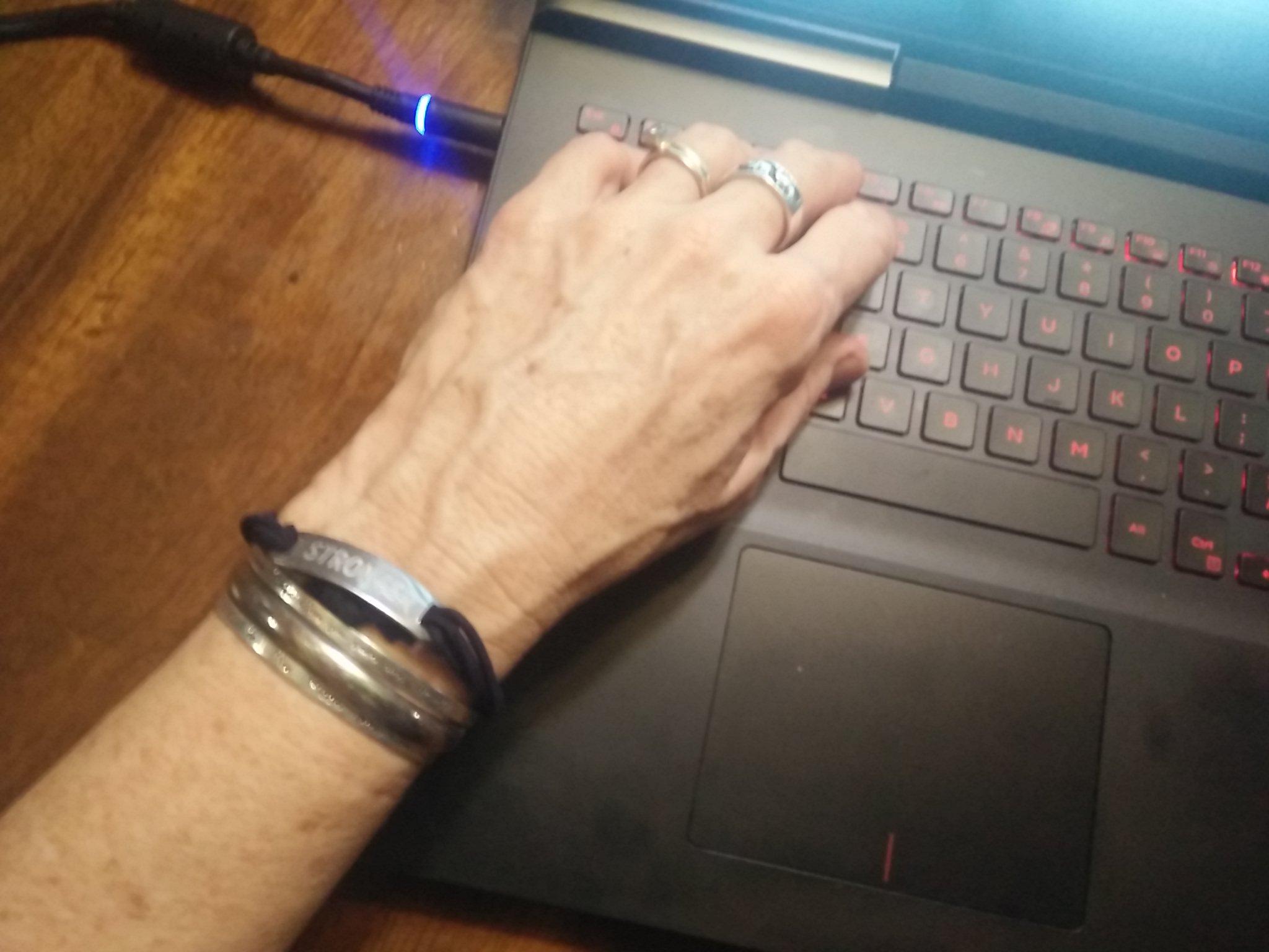 Elane's bracelets and rings