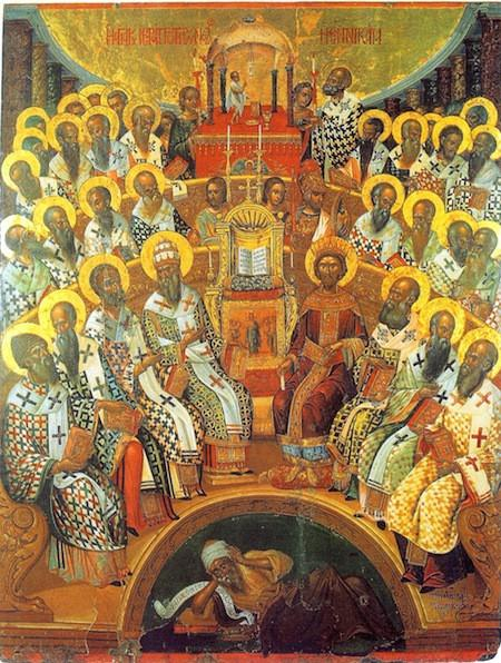First Ecumenical Council of Nicea by Damaskinos in 1545.jpeg
