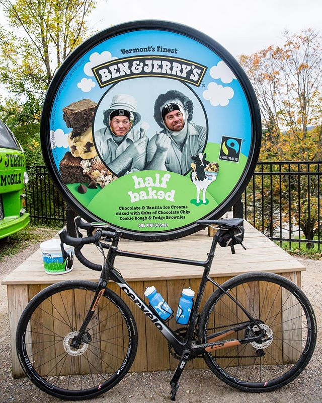 Some of North America's great brands in one shot. @benandjerrys + @cervelocycles + @nuunhydration + @ntsqvelo #vermonster