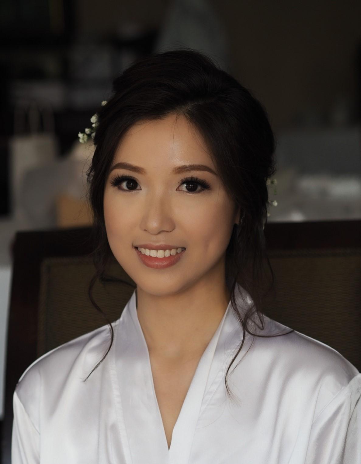 Chinese bridal makeup lashes Vaughan