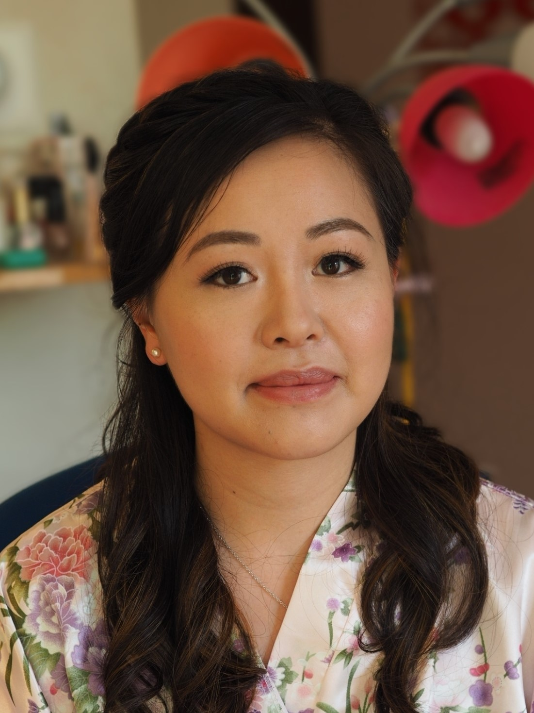 lash extensions bridal makeup artist Asian wedding
