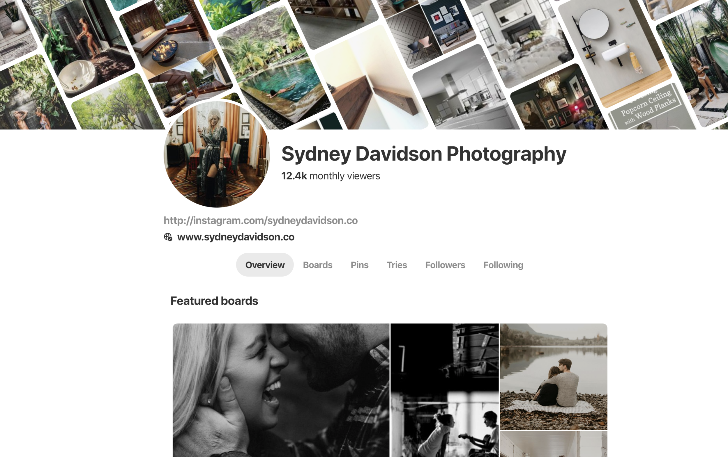 PINTEREST - Check out + follow along on my Pinterest.From everything photography related, favorite quotes + positive vibes, travel hacks, recipes to home inspo!