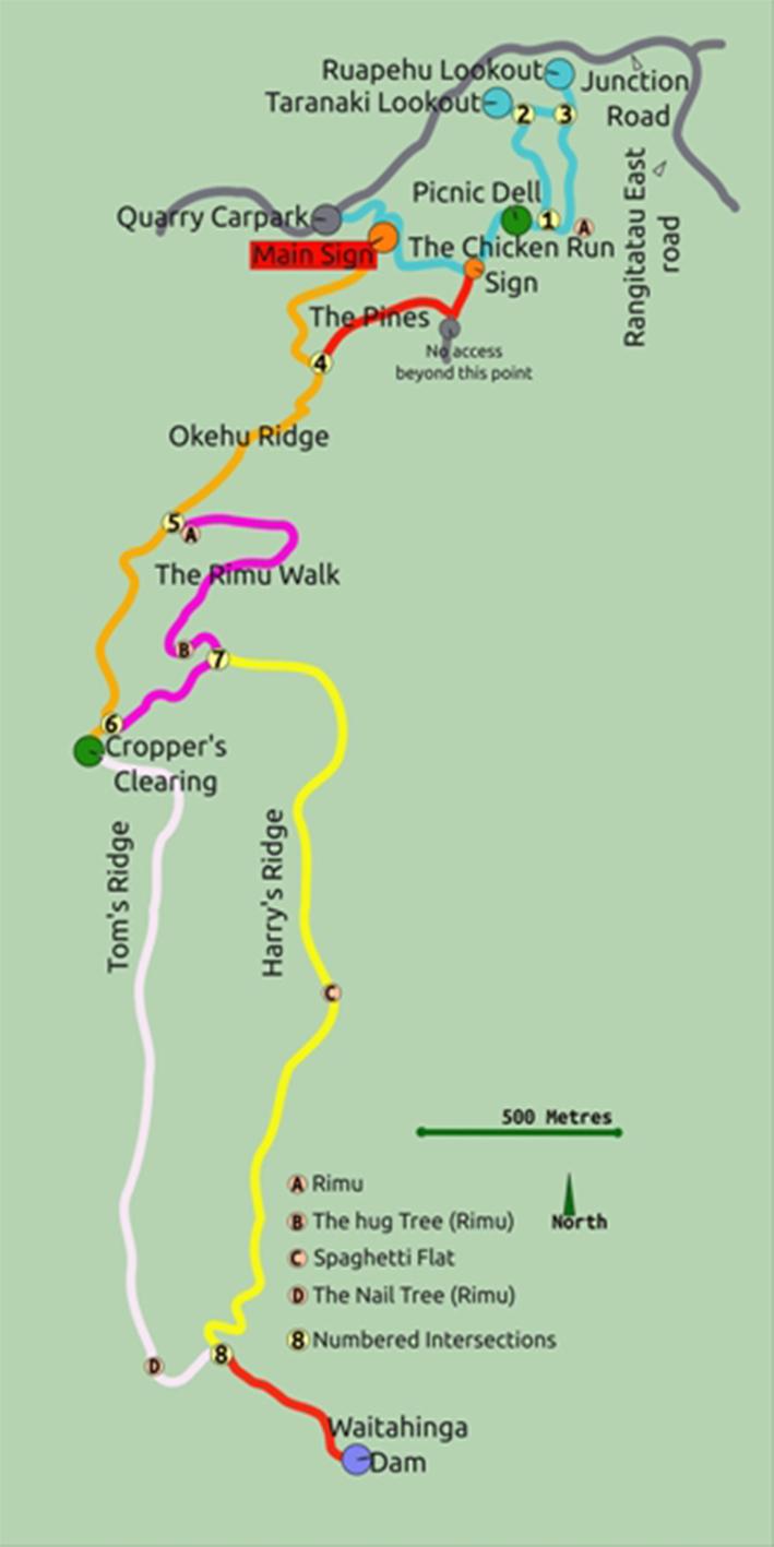 Waitahinga Trail Map