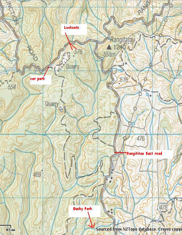 Waitahinga Map