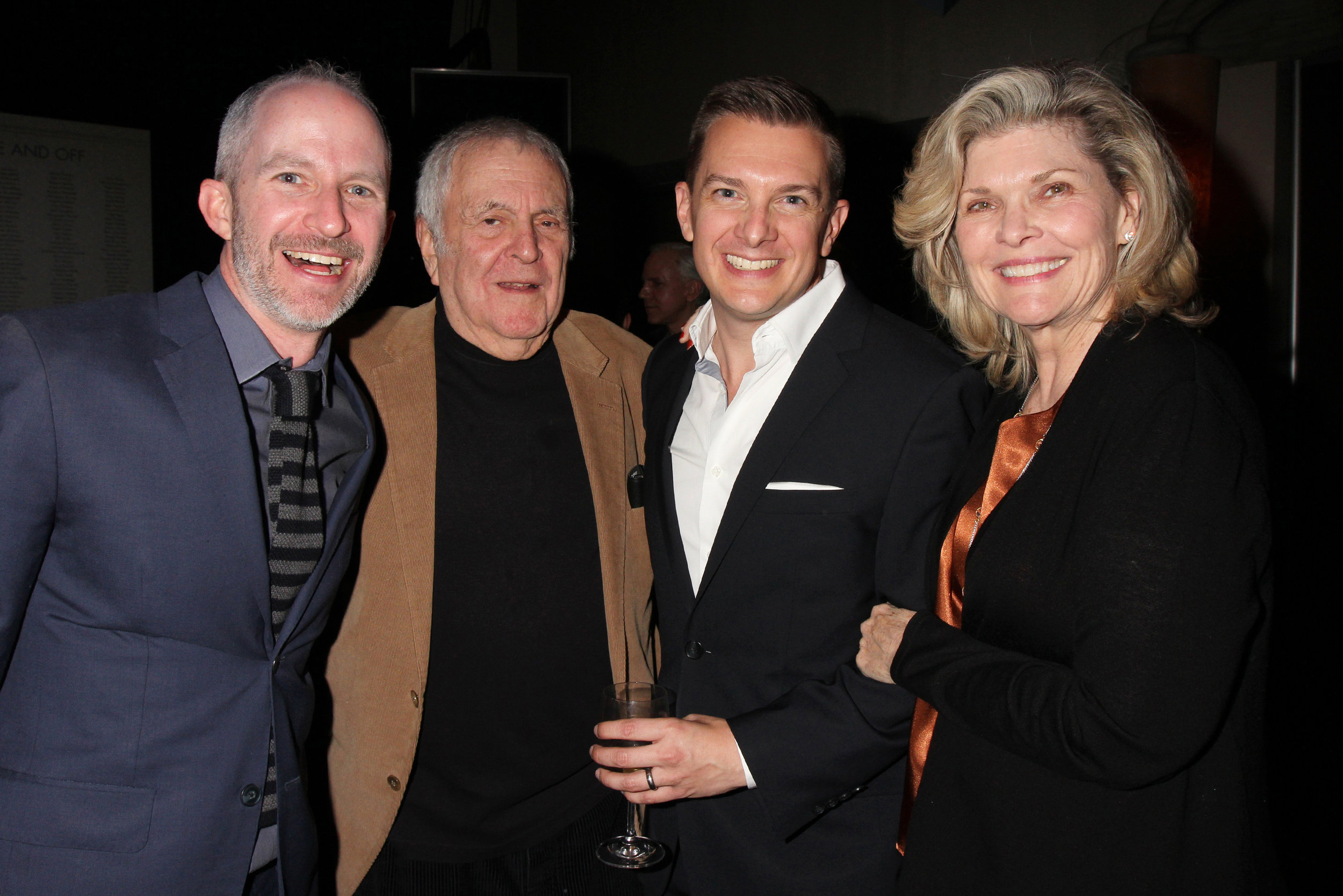 Two excited guys meeting John Kander & Debra Monk