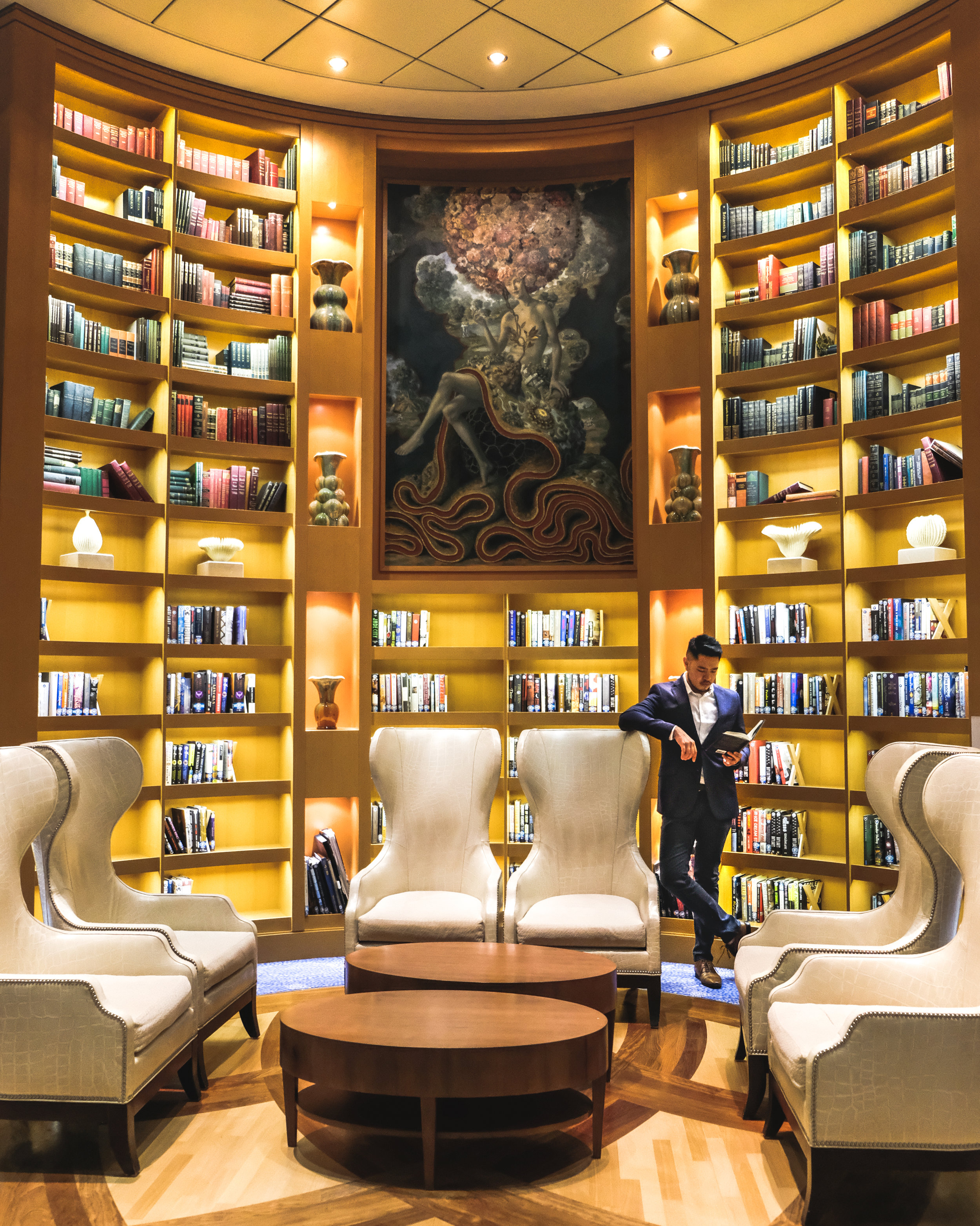 The library on board. How amazing is this?