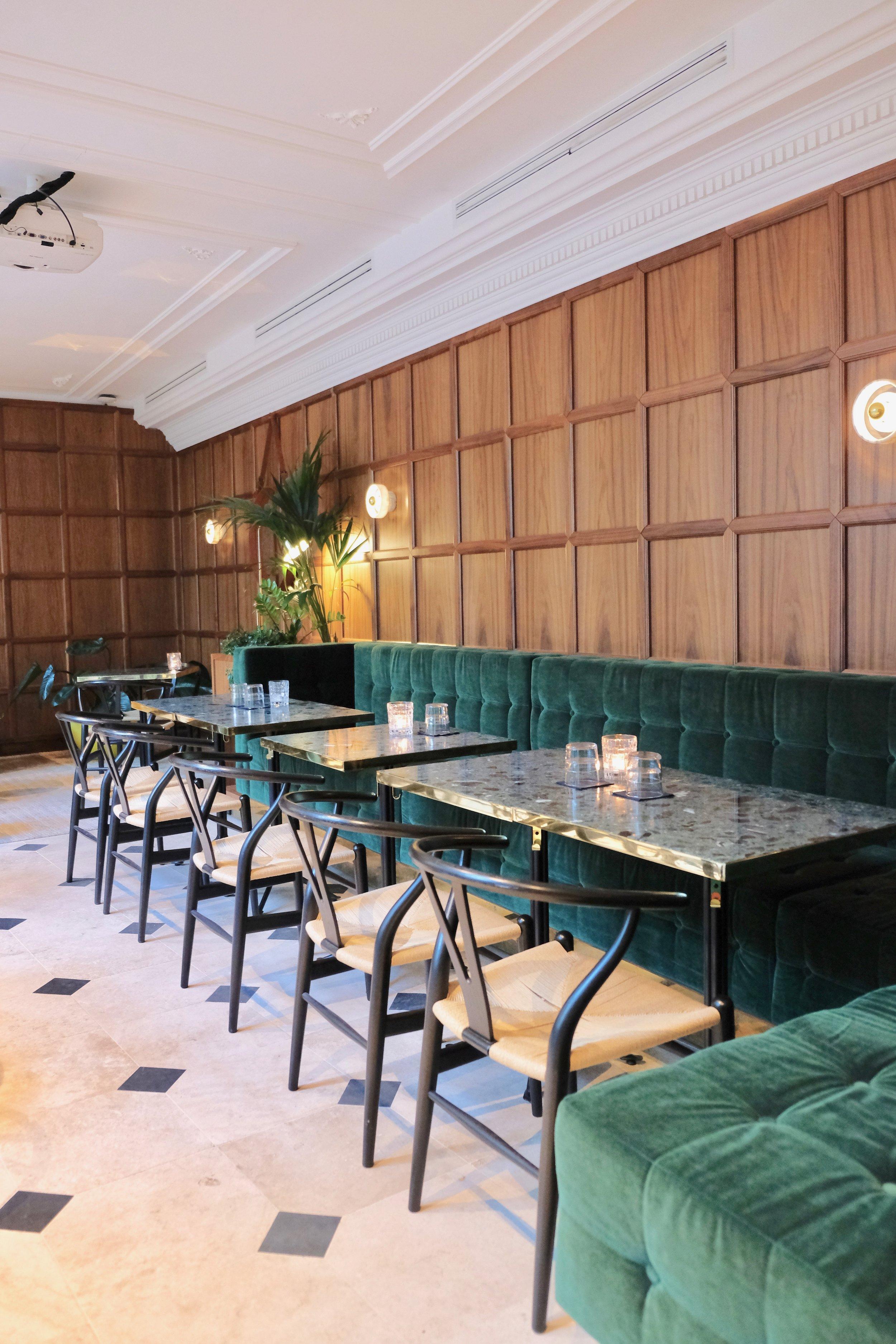 Beautiful design throughout the restaurant/bar area