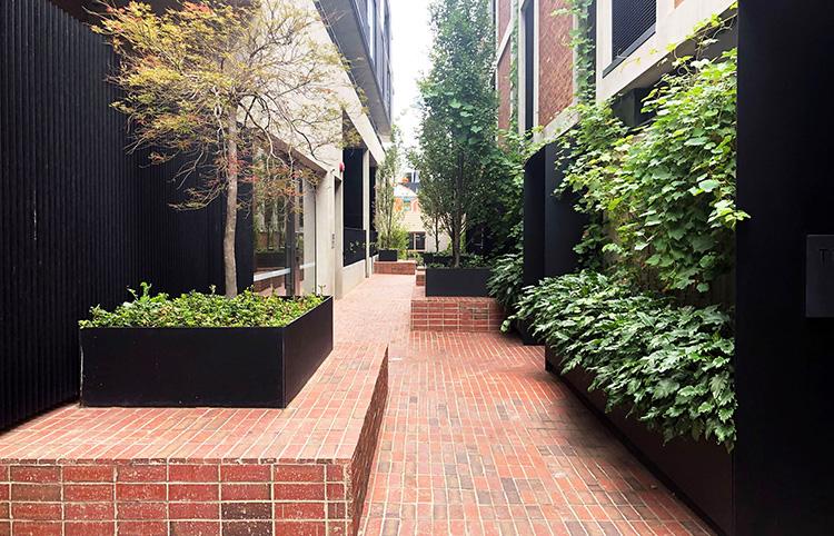 C.F Row Apartments - Red Blue Bricks & Brick TilesMORE